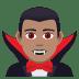 🧛🏽♂️ man vampire: medium skin tone Emoji on Joypixels Platform