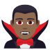 🧛🏾‍♂️ man vampire: medium-dark skin tone Emoji on Joypixels Platform