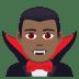 🧛🏾♂️ man vampire: medium-dark skin tone Emoji on Joypixels Platform