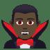 🧛🏿♂️ man vampire: dark skin tone Emoji on Joypixels Platform