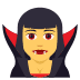 🧛‍♀️ woman vampire Emoji on Joypixels Platform