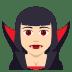 🧛🏻♀️ woman vampire: light skin tone Emoji on Joypixels Platform