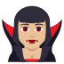🧛🏼‍♀️ woman vampire: medium-light skin tone Emoji on Joypixels Platform