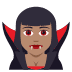 🧛🏽‍♀️ woman vampire: medium skin tone Emoji on Joypixels Platform
