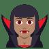 🧛🏽♀️ woman vampire: medium skin tone Emoji on Joypixels Platform