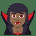 🧛🏾♀️ woman vampire: medium-dark skin tone Emoji on Joypixels Platform