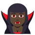 🧛🏿♀️ woman vampire: dark skin tone Emoji on Joypixels Platform