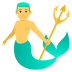 🧜♂️ merman Emoji on Joypixels Platform