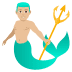 🧜🏼♂️ merman: medium-light skin tone Emoji on Joypixels Platform