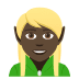 🧝🏿 elf: dark skin tone Emoji on Joypixels Platform