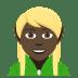 🧝🏿 Dark Skin Tone Elf Emoji on JoyPixels Platform