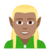 🧝🏽‍♂️ man elf: medium skin tone Emoji on Joypixels Platform