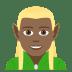 🧝🏾♂️ man elf: medium-dark skin tone Emoji on Joypixels Platform