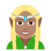 🧝🏽‍♀️ woman elf: medium skin tone Emoji on Joypixels Platform