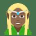 🧝🏾♀️ woman elf: medium-dark skin tone Emoji on Joypixels Platform