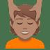 💆🏽 person getting massage: medium skin tone Emoji on Joypixels Platform