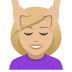 💆🏼‍♀️ woman getting massage: medium-light skin tone Emoji on Joypixels Platform