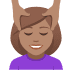 💆🏽‍♀️ woman getting massage: medium skin tone Emoji on Joypixels Platform