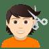 💇🏻 person getting haircut: light skin tone Emoji on Joypixels Platform