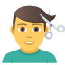 💇‍♂️ man getting haircut Emoji on Joypixels Platform