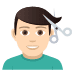 💇🏻‍♂️ man getting haircut: light skin tone Emoji on Joypixels Platform