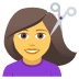 💇‍♀️ woman getting haircut Emoji on Joypixels Platform