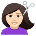 💇🏻‍♀️ woman getting haircut: light skin tone Emoji on Joypixels Platform