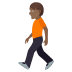 🚶🏾 person walking: medium-dark skin tone Emoji on Joypixels Platform