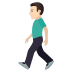 🚶🏻‍♂️ man walking: light skin tone Emoji on Joypixels Platform