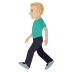 🚶🏼‍♂️ man walking: medium-light skin tone Emoji on Joypixels Platform