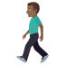🚶🏾‍♂️ man walking: medium-dark skin tone Emoji on Joypixels Platform