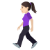 🚶🏻‍♀️ woman walking: light skin tone Emoji on Joypixels Platform