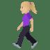 🚶🏼♀️ woman walking: medium-light skin tone Emoji on Joypixels Platform