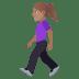 🚶🏽♀️ woman walking: medium skin tone Emoji on Joypixels Platform