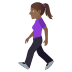 🚶🏾‍♀️ woman walking: medium-dark skin tone Emoji on Joypixels Platform