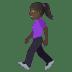 🚶🏿♀️ woman walking: dark skin tone Emoji on Joypixels Platform
