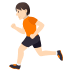 🏃🏻 person running: light skin tone Emoji on Joypixels Platform