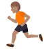 🏃🏽 person running: medium skin tone Emoji on Joypixels Platform