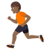 🏃🏾 person running: medium-dark skin tone Emoji on Joypixels Platform