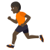 🏃🏿 person running: dark skin tone Emoji on Joypixels Platform