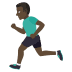 🏃🏿‍♂️ man running: dark skin tone Emoji on Joypixels Platform