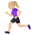 🏃🏼‍♀️ woman running: medium-light skin tone Emoji on Joypixels Platform