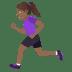 🏃🏾♀️ woman running: medium-dark skin tone Emoji on Joypixels Platform