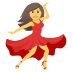 💃 woman dancing Emoji on Joypixels Platform
