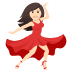 💃🏻 woman dancing: light skin tone Emoji on Joypixels Platform