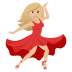 💃🏼 woman dancing: medium-light skin tone Emoji on Joypixels Platform
