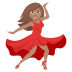 💃🏽 woman dancing: medium skin tone Emoji on Joypixels Platform
