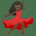 💃🏿 woman dancing: dark skin tone Emoji on Joypixels Platform