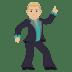 🕺🏼 Medium Light Skin Tone Man Dancing Emoji on JoyPixels Platform