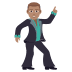 🕺🏽 man dancing: medium skin tone Emoji on Joypixels Platform